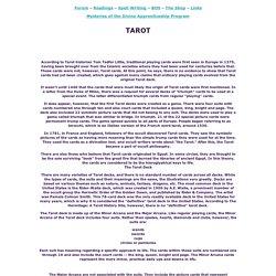 Tarot- Book of Shadows