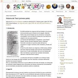 Arte Tarot: Historia del Tarot (primera parte)