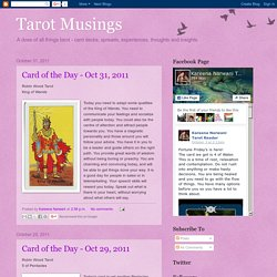 Tarot Musings: October 2011