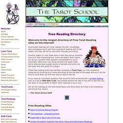 The Tarot School: Free Tarot Reading Directory