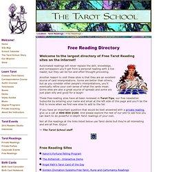 The Tarot School: Free Tarot Reading Directory