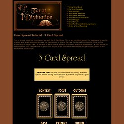 Tarot Spread Tutorial : 3 Card Spread