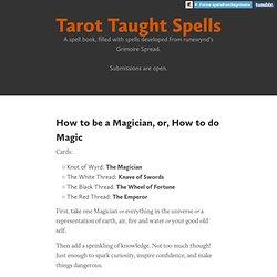 Tarot Taught Spells