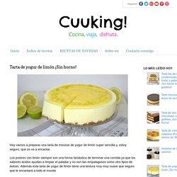 Tarta de yogur de limón ¡Sin horno!