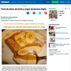Tarta de dulce de leche y yogur de banana (light)
