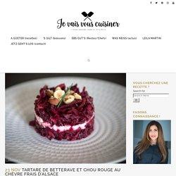 Tartare de betterave et chou rouge au chèvre frais d'Alsace