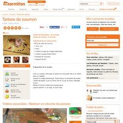 Tartare de saumon : Recette de Tartare de saumon
