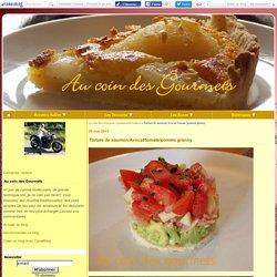 Tartare de saumon/Avocat/tomate/pomme granny - Au coin des Gourmets