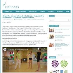 Tartásjavító, lábizom-erősítő és térdizom-egyensúly gyakorlatok - szülőknek, testnevelőknek - Gerinces.hu