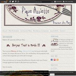 Tarte bicolore - Pique - Assiette