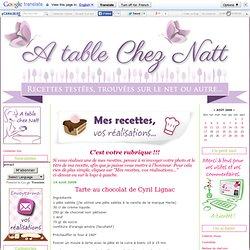 Tarte au chocolat de Cyril Lignac