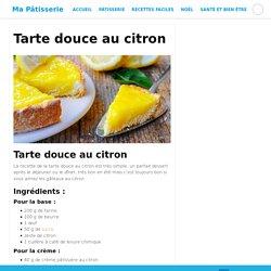 Tarte douce au citron