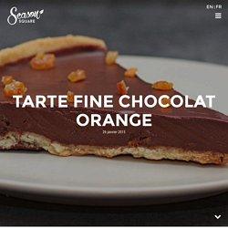 Tarte fine chocolat orange