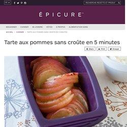 Tarte aux pommes sans croûte en 5 minutes