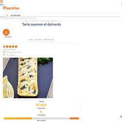 Tarte saumon et épinards : Recette de Tarte saumon et épinards