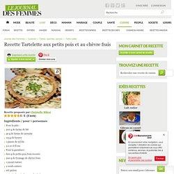 Tartelette aux petits pois et au chèvre frais