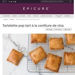 Tartelette pop tart à la confiture de chia