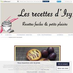 Tartelettes aux prunes et crème d'amandes - les recettes d'isy