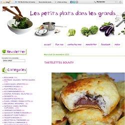 blog cuisine - TARTELETTES BOUNTY