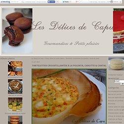 Tartelettes croustillantes à la polenta, carotte & cantal