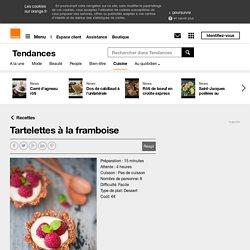 Tartelettes à la framboise sur Orange Tendances