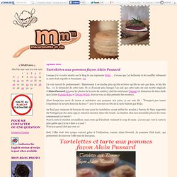 Tartelettes aux pommes façon Alain Passard
