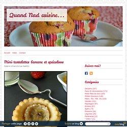 Mini-tartelettes banane et spéculoos