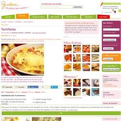 Tartiflette - au reblochon et cuite au four - tartiflette savoyarde traditionnelle