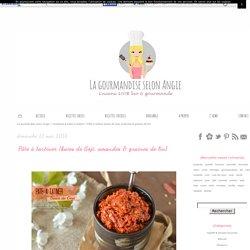 Pâte à tartiner : Goji, amandes & graines de lin