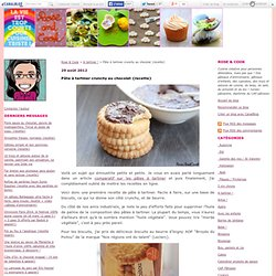 Pâte à tartiner crunchy au chocolat {recette