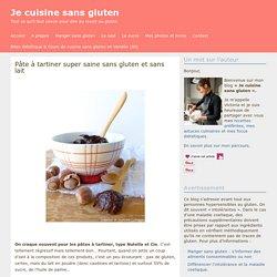 Pâte à tartiner super saine sans gluten et sans lait