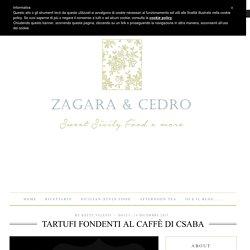 Tartufi Fondenti al Caffè