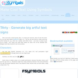 TArty - Generate big artful text signs - fsymbols