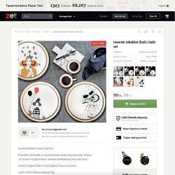 tasarım tabaklar (kızlı ) üçlü set - Mutfak 294059