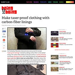 Make taser-proof clothing with carbon-fiber linings