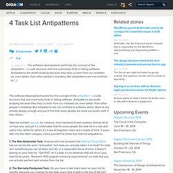 4 task list antipatterns