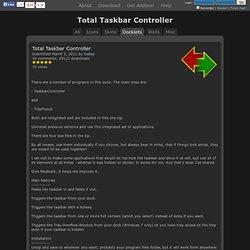 Total Taskbar Controller