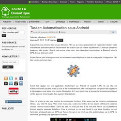 Tasker: Automatisation sous Android