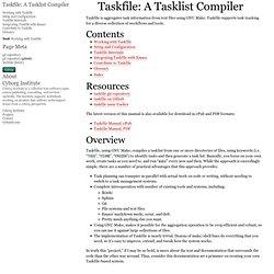 Taskfile: A Tasklist Compiler