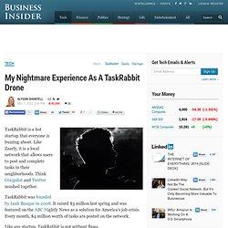 TaskRabbit Confession