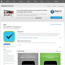 2Do: Tasks Done in Style for iPhone, iPod touch, and iPad on the iTunes App Store