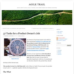 37 Tasks for a Product Owner's Job » Agile Trail