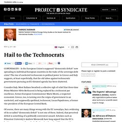 Hail to the Technocrats - Fabrizio Tassinari
