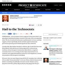 Hail to the Technocrats - Fabrizio Tassinari