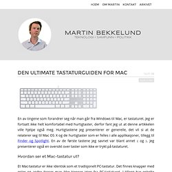 Den ultimate tastaturguiden for Mac « Martin Bekkelund