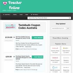 Tastebuds Coupon Code, Tastebuds Discount Code, Tastebuds Promo Code Australia 2017
