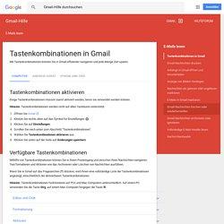 Tastenkombinationen für Gmail - Gmail-Hilfe
