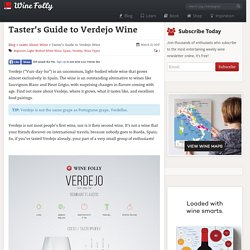 Taster's Guide to Verdejo Wine