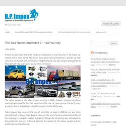The Tata Nano's Incredible 7 – Year Journey -