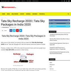 Tata Sky Packages in India 2020